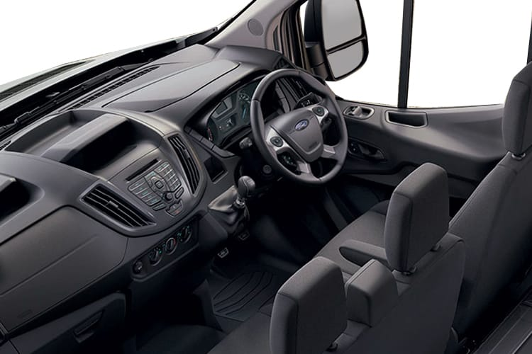 Ford Transit 350 L3 AWD 2.0 EcoBlue 4WD 130PS Leader Premium Dropside Double Cab Manual [Start Stop] inside view